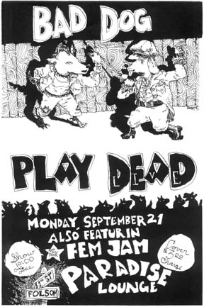 Bad Dog Play Dead poster I  by Hagwood B Hall aka Kevin Woodson